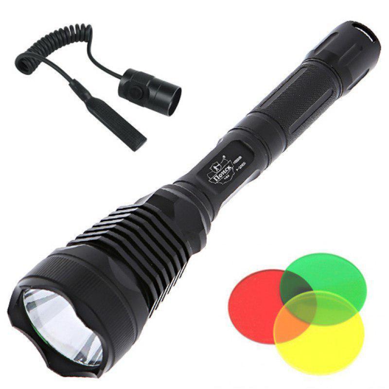 Подствольный фонарь POLICE BL-Q2800 T6 150000W + 3 светофильтра фонарик 1180 Lumen Фонарь ручной мощный