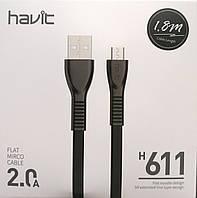 Кабель для передачи данных смартфона HV-H611, Micro USB, 1 m