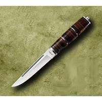 Нож охотничий 02 XP. Рукоять - наборная кожа. Чехол - кожа.,охотничьи ножи,товары для рыбалки и охоты,оригинал