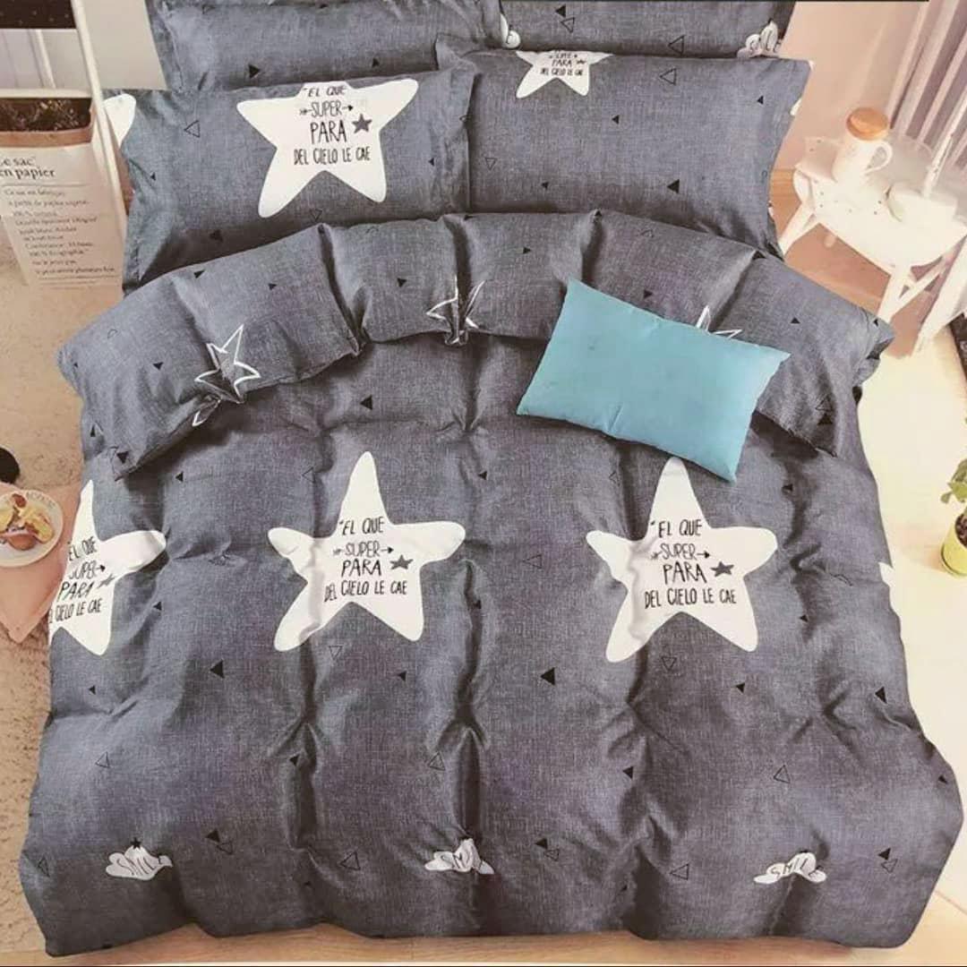 Комплект постельного белья Звезда с простынью на резинке (евро) Berni