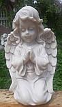 Скульптура для памятников. Скульптура Ангел на коленях №9 из мрамора 32 см, фото 2