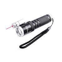Тактический фонарь POLICE BL 9846 Q5 50000W фонарик + лазер 600 Lumen Фонарь ручной мощный, фото 1