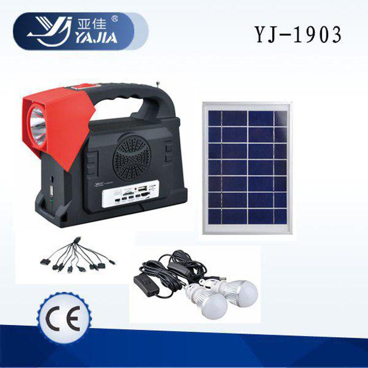 Солнечная система-фонарь Yajia YJ-1903T(SY)K солнечная панель лампочки Многофункциональный кемпинговый фонарь