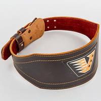 Пояс атлетический кожаный VELO VL-8178