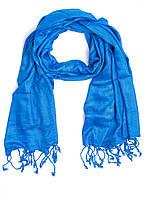 Шарф - шаль, вискоза, светло-синяя