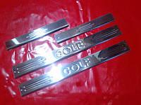 Хром накладки на пороги для Volkswagen Golf 6, Фольксваген Гольф 6