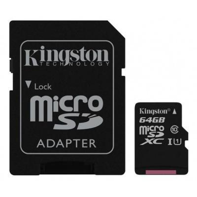 Карта памяти Kingston 64GB microSDXC class 10