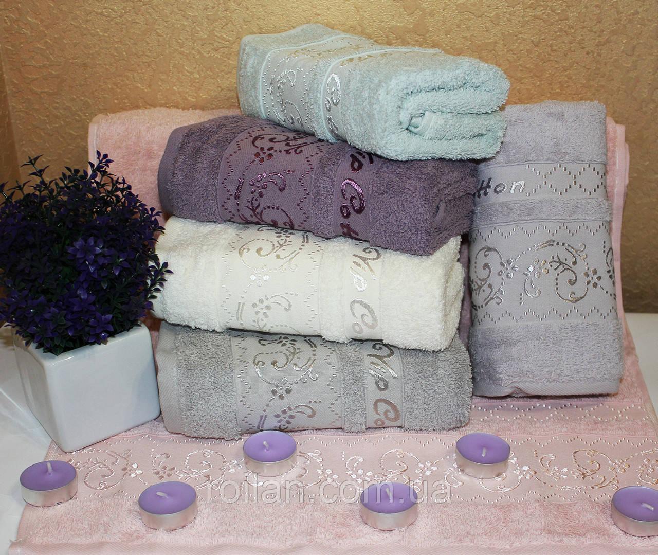 Метровые турецкие полотенца Завиточки Vip Cotton