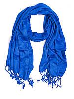 Шарф - шаль, вискоза, синяя