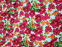 Лен Розовые цветы ткань для одежды, фото 1