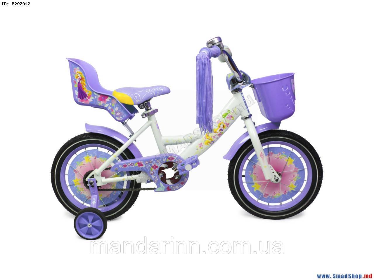 Велосипед детский Girls 16 дюймов фиолетовый