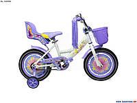 Велосипед детский Girls 16 дюймов фиолетовый, фото 1