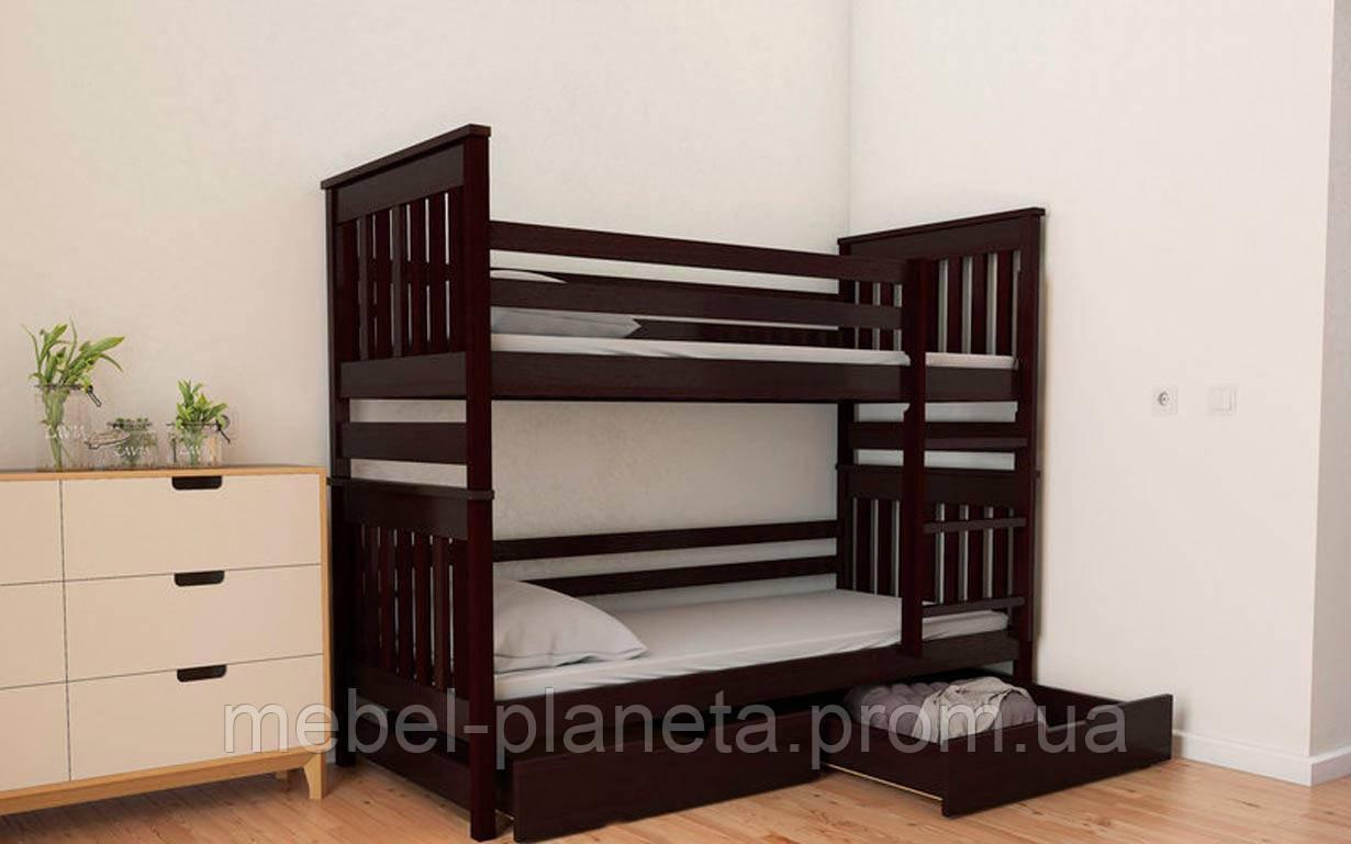 """Двох'ярусне ліжко трансформер """"Адель Duo"""" 90*200 дерево бук масив дитяче ліжко безкоштовна доставка Місяць"""