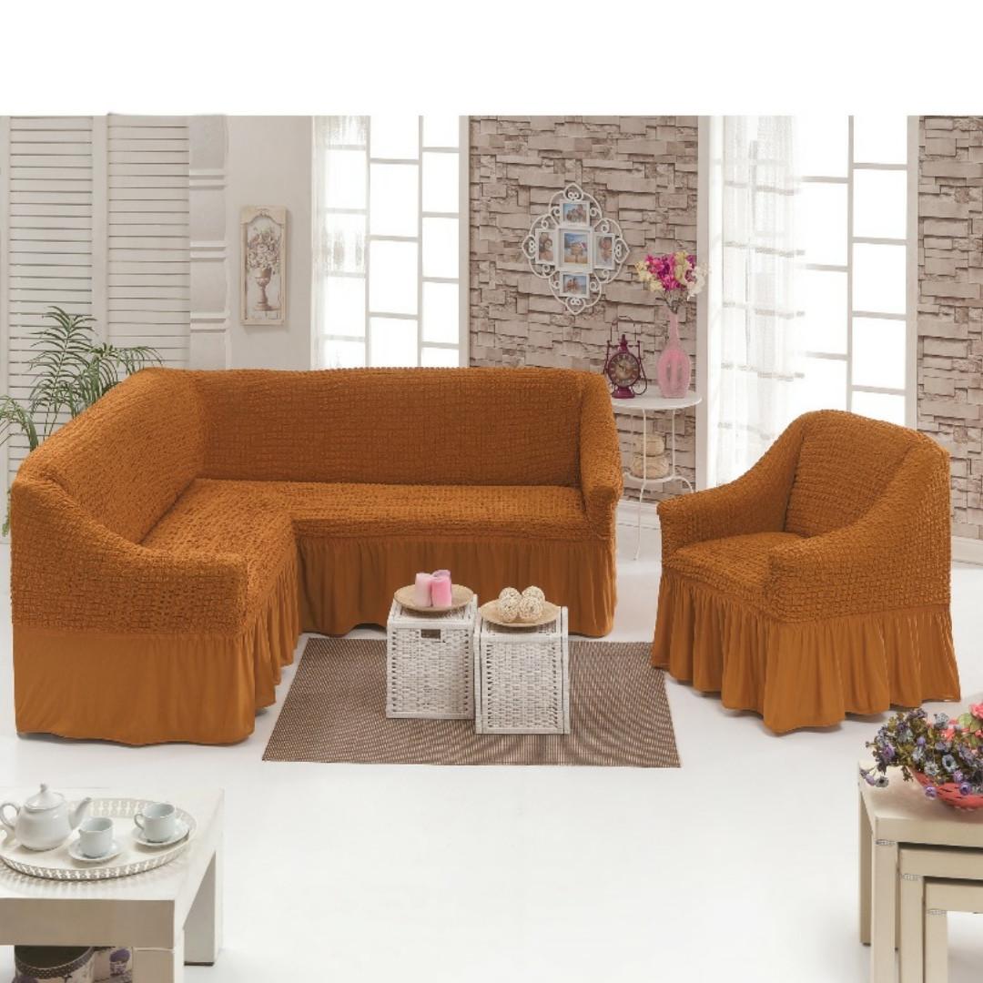 Універсальний чохол на кутовий диван + крісло