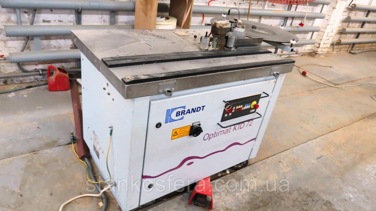 Brandt KTD72 кромкооблицовочный станок бу универсальный 03г. с наклоняемой столешней