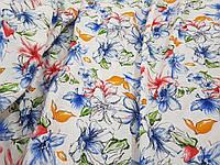 Лен Фиалка голубая ткань для одежды, фото 1