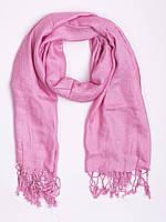 Шарф - шаль, вискоза, розовая с огурцами