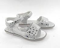 Босоножки для девочек серебрянные звезды р. 31 - 36 модель 95037, фото 1