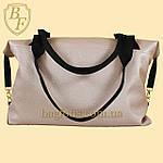 Женская дорожная сумка искусственная кожа пудра, фото 4