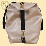Женская дорожная сумка искусственная кожа пудра, фото 5