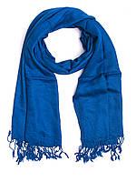 Шарф - шаль, вискоза, темно-синяя
