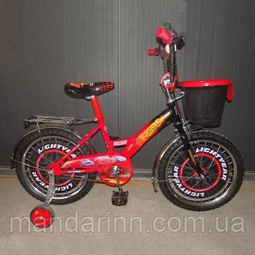 """Дитячий велосипед Mustang Тачки - Cars 12"""" - червоний"""