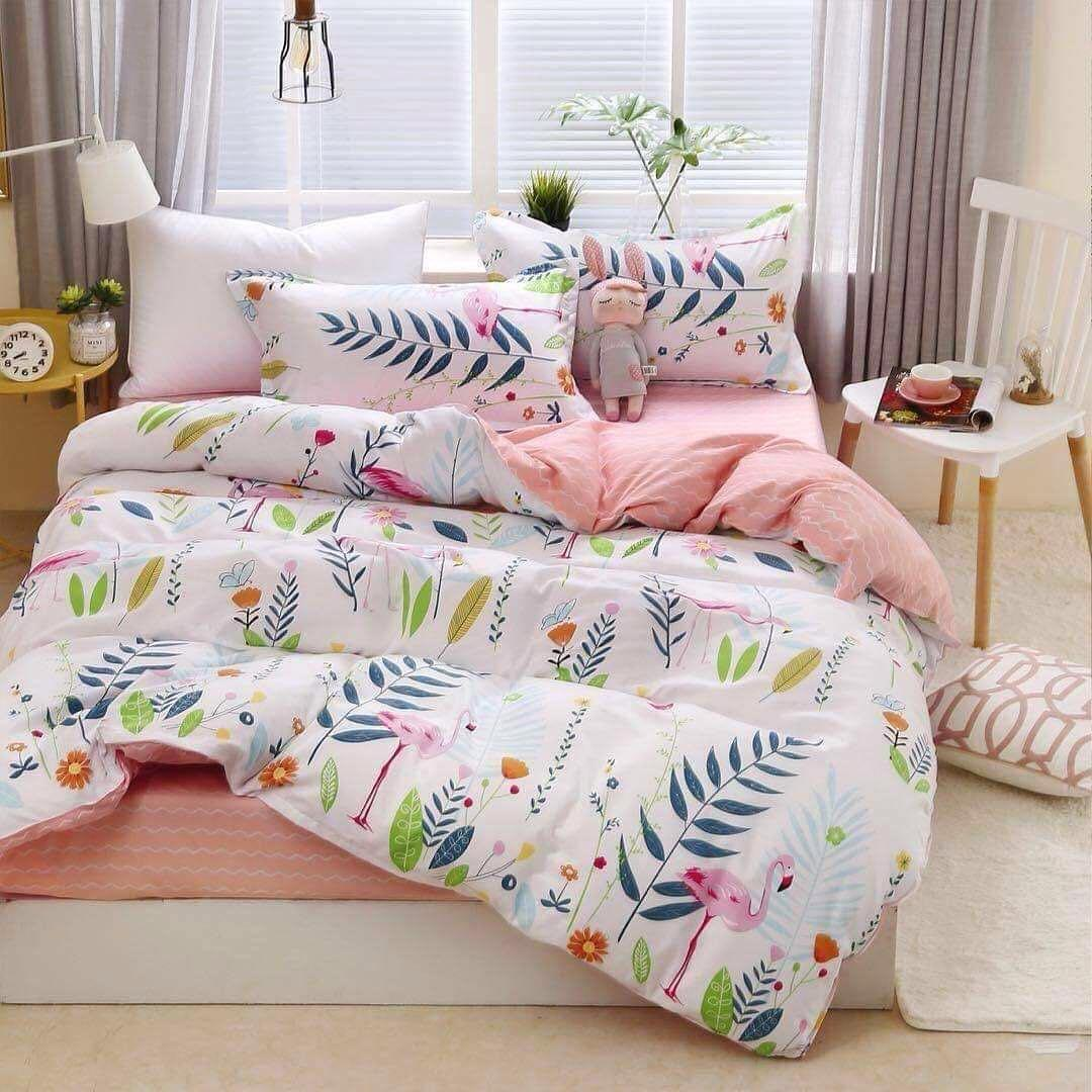 Комплект постельного белья Фламинго в тропиках (двуспальный-евро) Berni