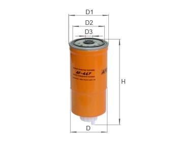 Фильтр топливный Alpha Filter AF467 (РР 850)