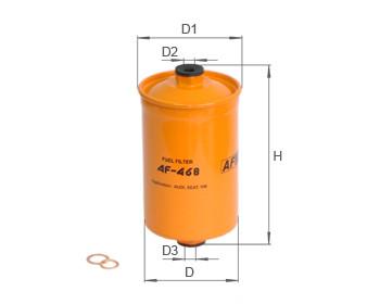Фильтр топливный Alpha Filter AF468 (РР 849)