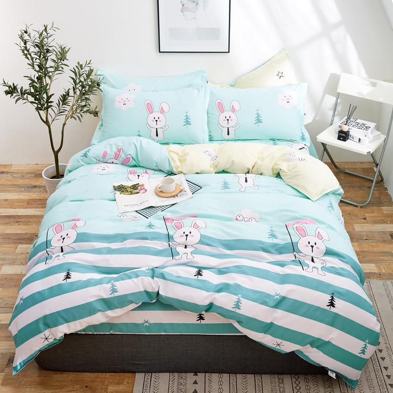 Комплект постельного белья Белый зайчик (полуторный) Berni