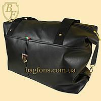 Женская дорожная сумка искусственная кожа черная