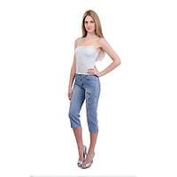 Бриджи женские джинсовые,стрейч-коттон.p.25-28.