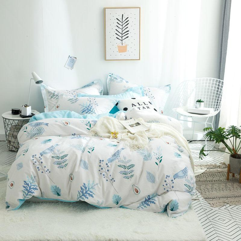 Комплект постельного белья Голубая птичка (двуспальный-евро) Berni