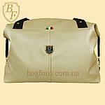 Женская дорожная сумка искусственная кожа золотистая, фото 2