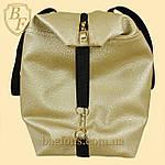 Женская дорожная спортивная сумка искусственная кожа золотистая, фото 2