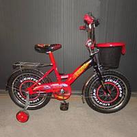 Велосипед детский Mustang Тачки - Cars 16 дюймов - красный, фото 1