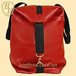 Женская дорожная сумка искусственная кожа красная, фото 3