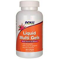 Витамины и минералы NOW Foods Liquid Multi Gels (180 капс)