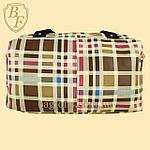 Женская дорожная сумка искусственная кожа в клетку, фото 4