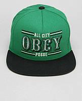 Кепка Obey - 89ears Logo Black/Green