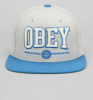 Кепка Obey - Logo Worldwide Light Blue/Gray