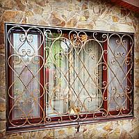 Кованые решетки на окна и двери арт кр 61, фото 1