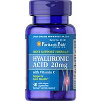 Препарат для восстановления суставов и связок Puritan's Pride Hyaluronic Acid 20 мг (30 капс)