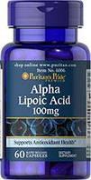 Альфа-липоевая кислота Puritan's Pride Alpha Lipoic Acid 100 мг (60 капс)