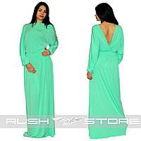 Платье в пол с красивым вырезом на спине