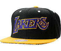 Кепка Mitchell and Ness - Los Angeles Lakers - Classic Black/Yellow, фото 1