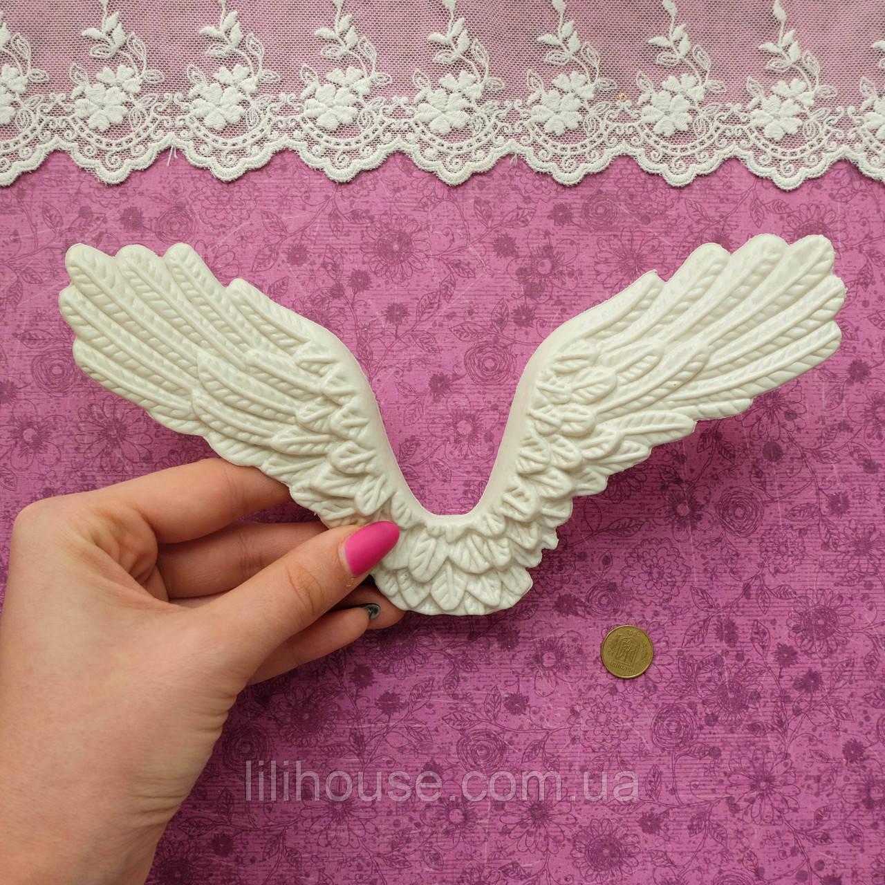 Крылья бежево-белые, 20.5*11*2 см