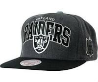 Кепка Mitchell and Ness - Oakland Raiders - Big Logo Classic Black/Heather Gray