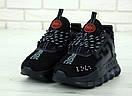 Жіночі кросівки Versace Chain Reaction black, фото 2