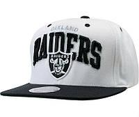 Кепка Mitchell and Ness - Oakland Raiders - Big Logo Classic Black/White